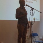International Activist Fank Mugisha speaking